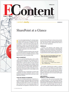 EContent Magazine - Spring Issue 2018