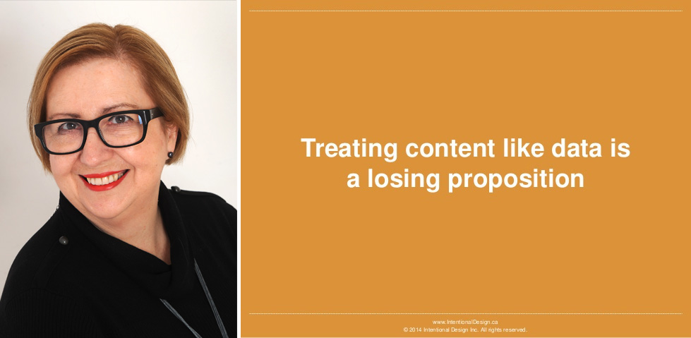 Treating Content Like Data is a Losing Proposition